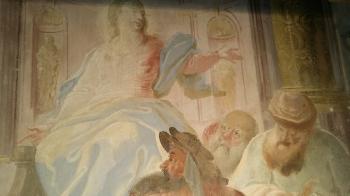 Rok 2018 prace konserwatorskie przy dekoracji malowideł ściennych i sztukaterii w południowej nawie bocznej kaplica św. Józefa_10