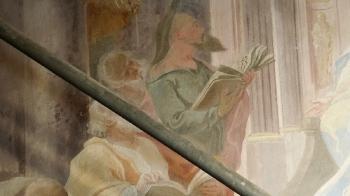 Rok 2018 prace konserwatorskie przy dekoracji malowideł ściennych i sztukaterii w południowej nawie bocznej kaplica św. Józefa_12