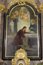 Rok 2018 prace konserwatorskie przy dekoracji malowideł ściennych i sztukaterii w południowej nawie bocznej kaplica św. Józefa_1