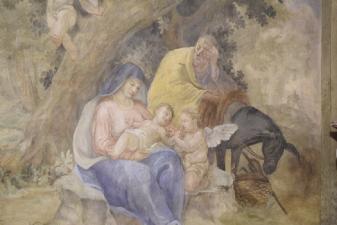 Rok 2018 prace konserwatorskie przy dekoracji malowideł ściennych i sztukaterii w południowej nawie bocznej kaplica św. Józefa_2