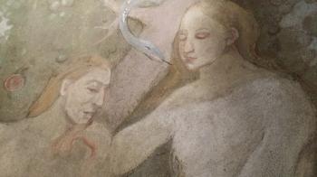 Rok 2018 prace konserwatorskie przy dekoracji malowideł ściennych i sztukaterii w południowej nawie bocznej kaplica św. Józefa_7