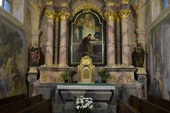 Rok 2018 prace konserwatorskie przy dekoracji malowideł ściennych i sztukaterii w południowej nawie bocznej kaplica św. Józefa_8