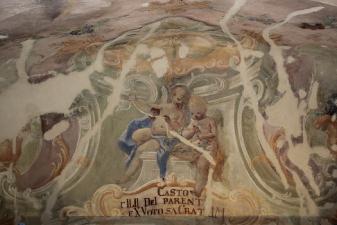 Rok 2019 Prace konserwatorskie przy dekoracji malowideł ściennych i sztukaterii w południowej nawie bocznej wraz z wyposażeniem_10