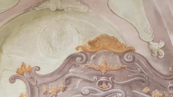 Rok 2019 Prace konserwatorskie przy dekoracji malowideł ściennych i sztukaterii w południowej nawie bocznej wraz z wyposażeniem_5