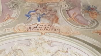 Rok 2019 Prace konserwatorskie przy dekoracji malowideł ściennych i sztukaterii w południowej nawie bocznej wraz z wyposażeniem_6