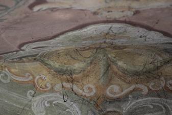 Rok 2019 Prace konserwatorskie przy dekoracji malowideł ściennych i sztukaterii w południowej nawie bocznej wraz z wyposażeniem_7