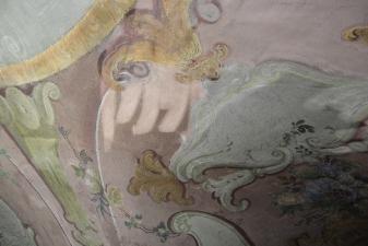 Rok 2019 Prace konserwatorskie przy dekoracji malowideł ściennych i sztukaterii w południowej nawie bocznej wraz z wyposażeniem_8